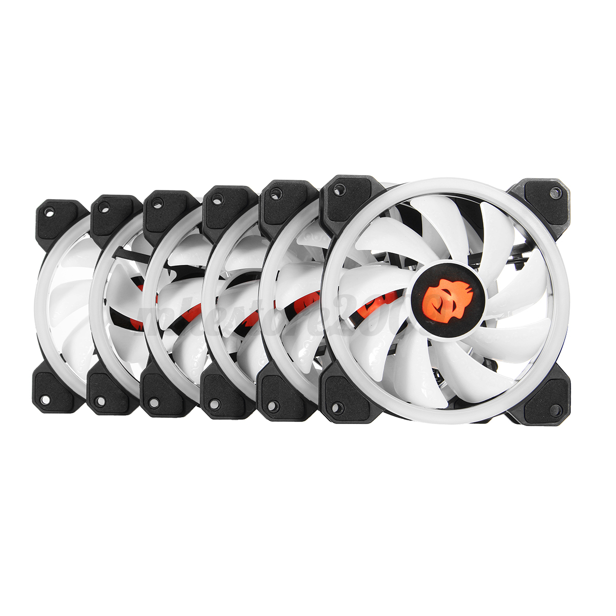 3 6 Pack Rgb Led Quiet Computer Case Pc Cooling Fan 120mm