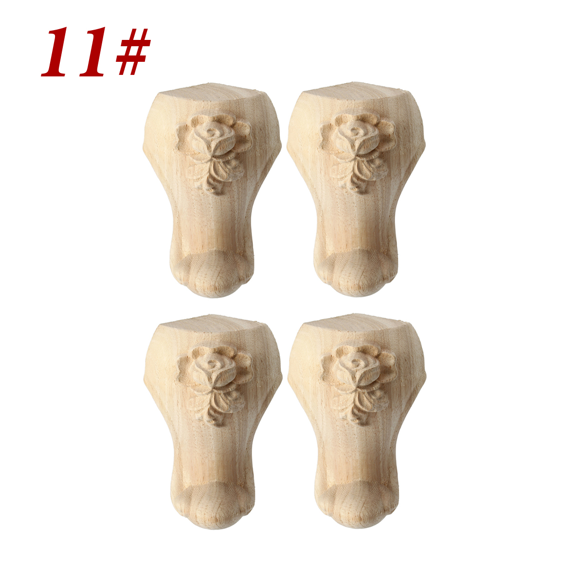 24-Type-4Pcs-10-15cm-European-Solid-Wood-Carved-Furniture-Foot-Leg-Cabinet-Couch thumbnail 19