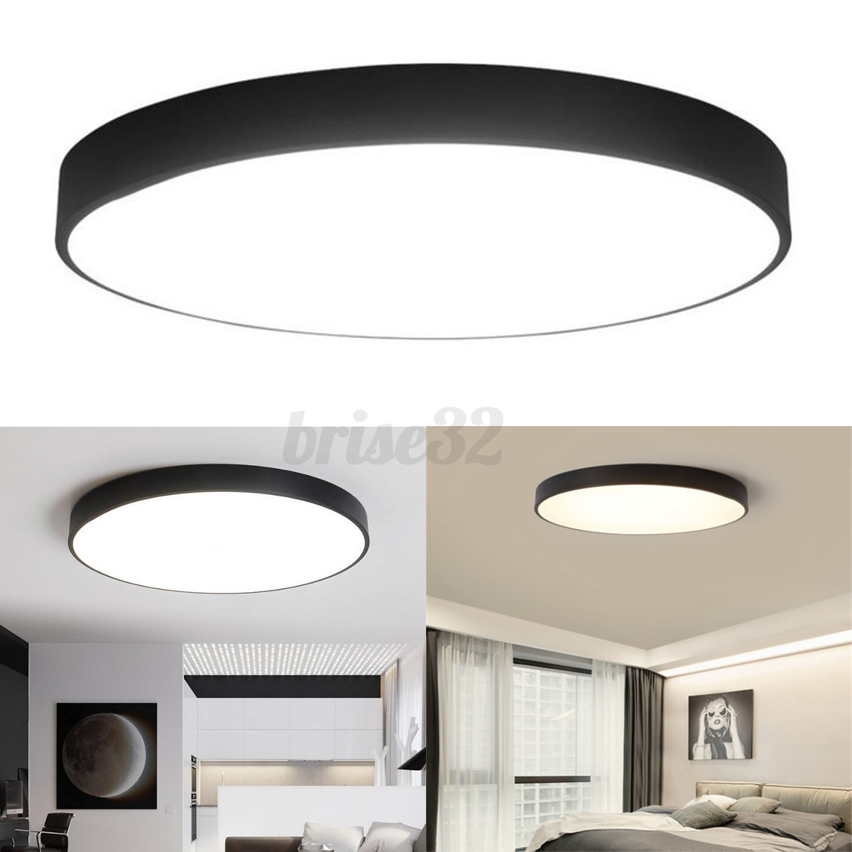 Round LED Ceiling Down Light Fixture Home Bedroom Living