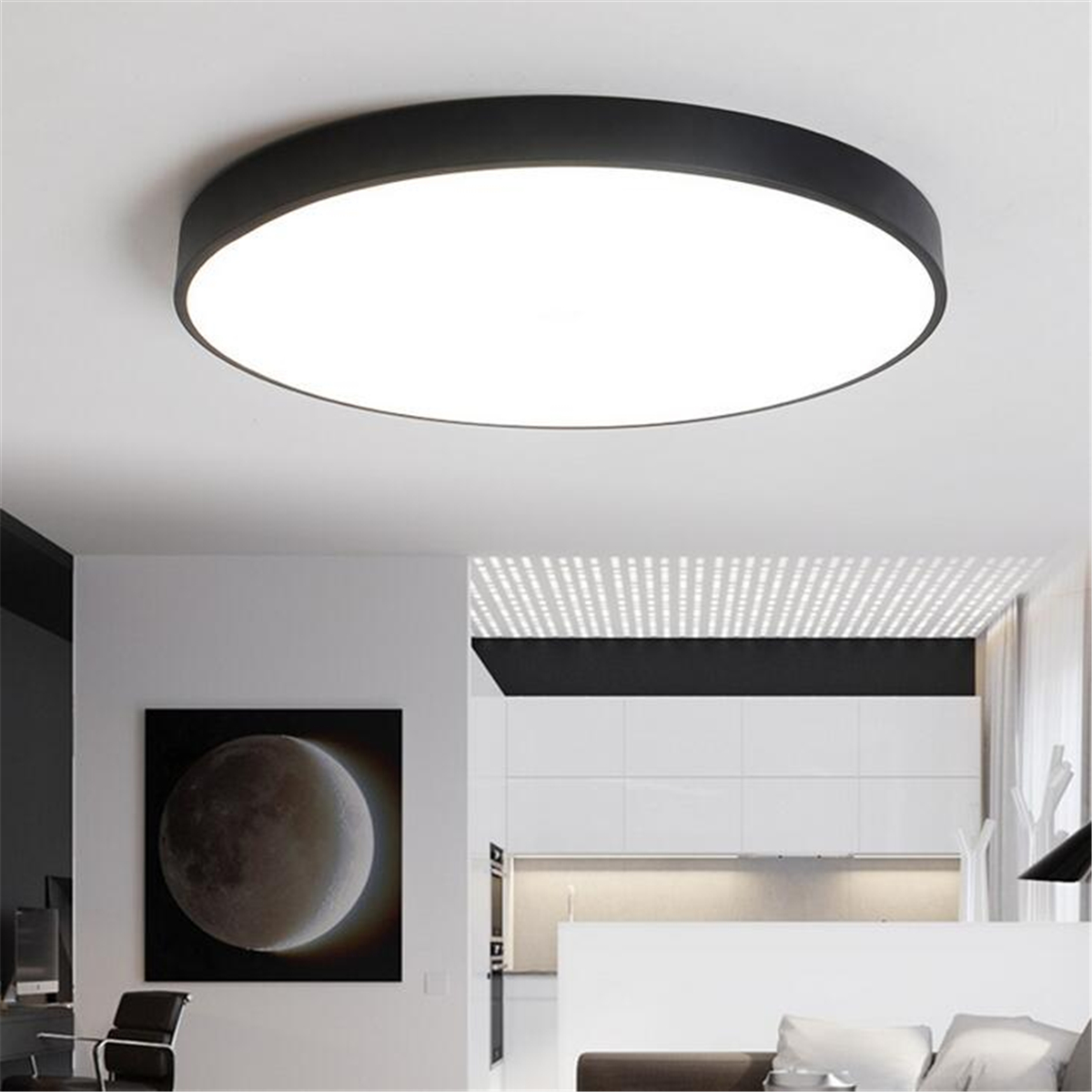 12/18/24W Round LED Ceiling Light Mount Fixture Lamp For
