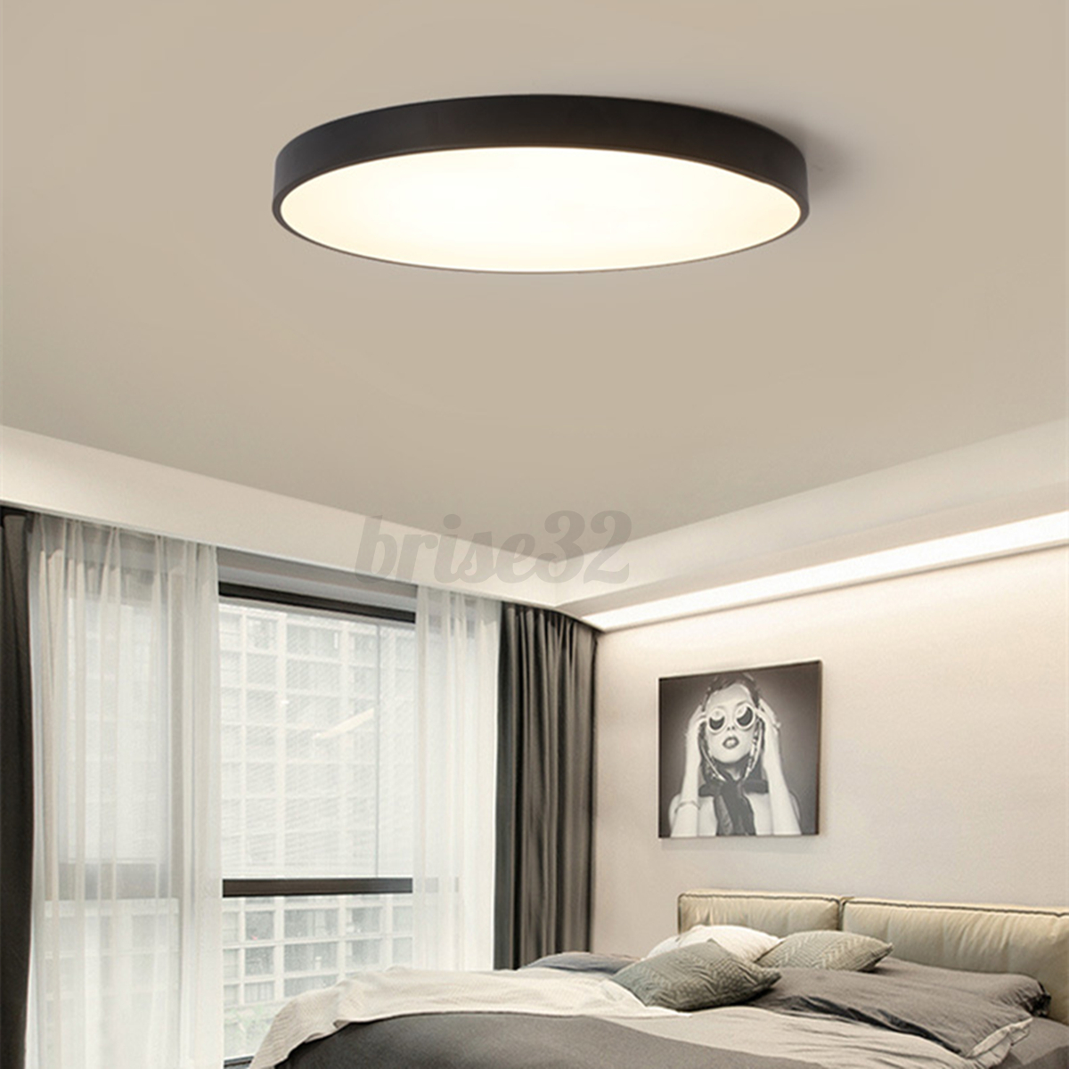 Ceiling Bedroom Lights: Round LED Ceiling Down Light Fixture Home Bedroom Living