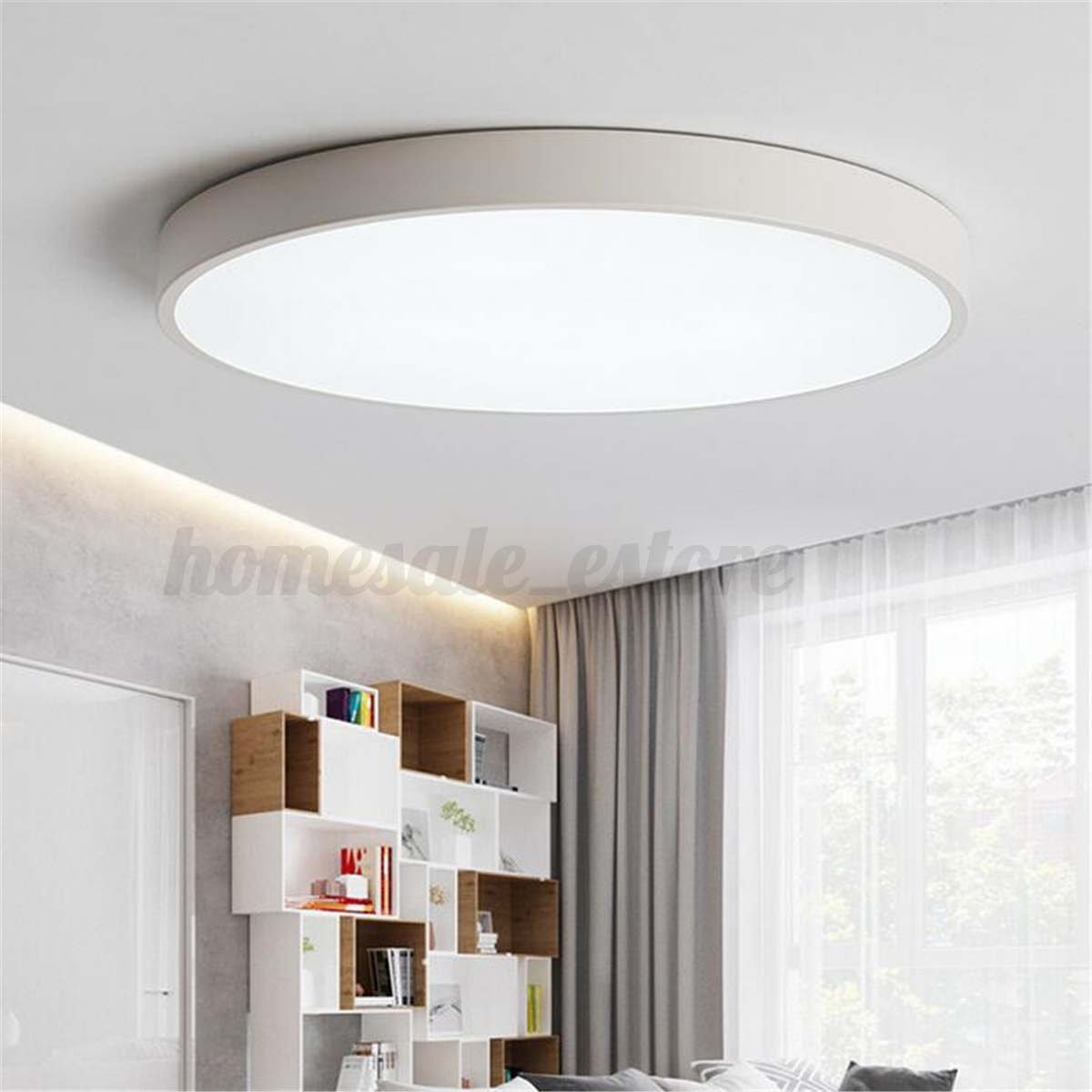 Black/White Modern LED Ceiling Light Surface Mount Lamp Home Bedroom ...