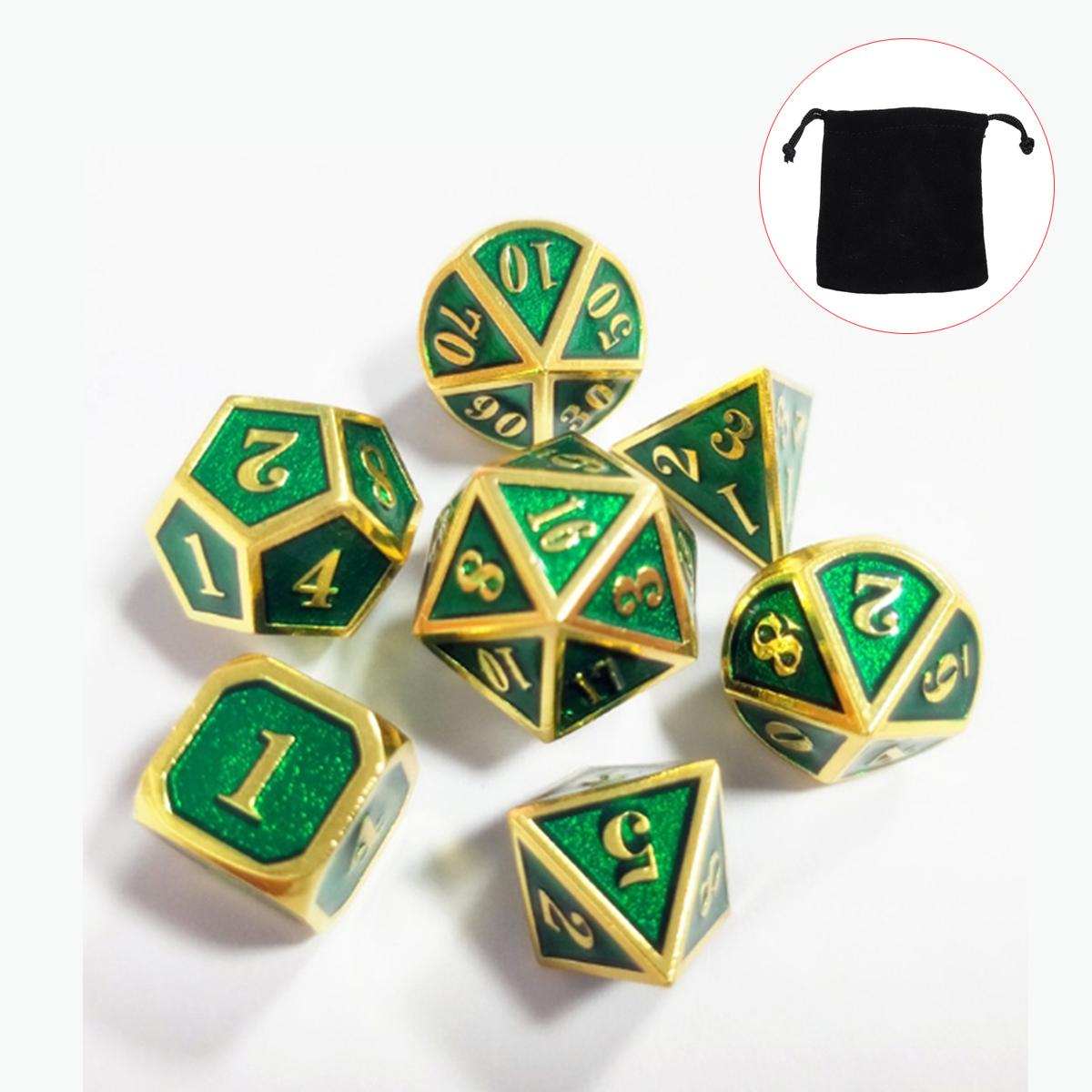 7pcs-Polyhedral-Knobel-Wuerfel-Spielwuerfel-fuer-MTG-DND-RPG-Game-Dice-Multi-Sides Indexbild 15