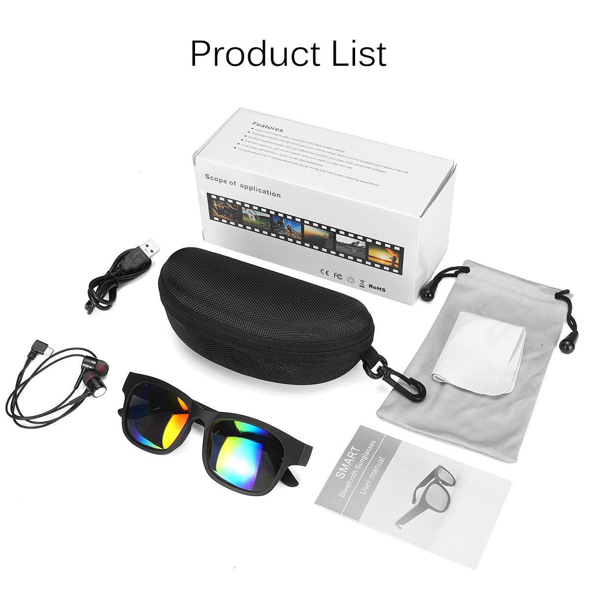 3in1 Polarized bluetooth 5.0 Sunglasses Headphones Smart Glasses Stereo Speaker