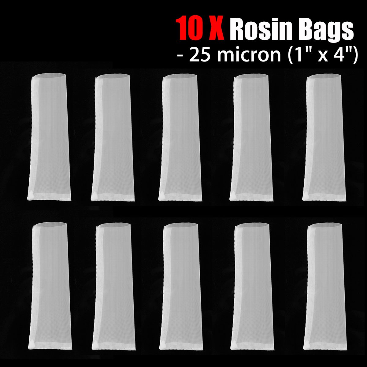 25 Micron, 25 u Filter Bags 2 x 4.5 Rosin Extraction Micron