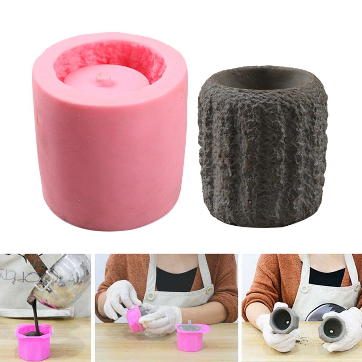 Crafts Silicone Mold Mould Non-Toxic Hexagon//Octagon Flower Pot DIY Vase Parts