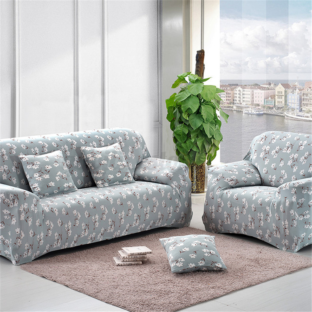 1-2-3-4-Seater-L-Shape-Stretch-Chair-Loveseat-Sofa-Couch-Protect-Cover-Slipcover