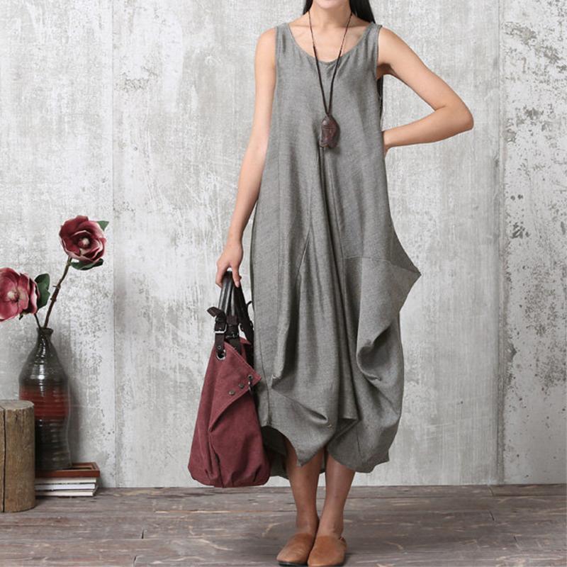 ZANZEA-8-24-Women-Casual-Sleeveless-A-Line-Sundress-Kaftan-Plus-Size-Maxi-Dress