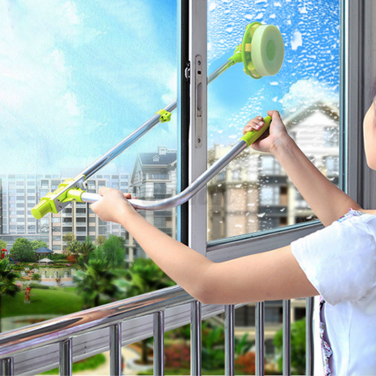 Telescopic High Rise U Type Glass Cleaning Cleaner Windows