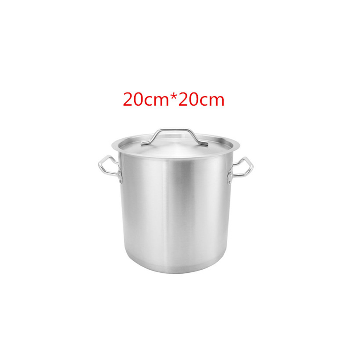 Industrial Kitchen Pans: Commercial Thicken Stainless Steel Stock Pot Home Kitchen