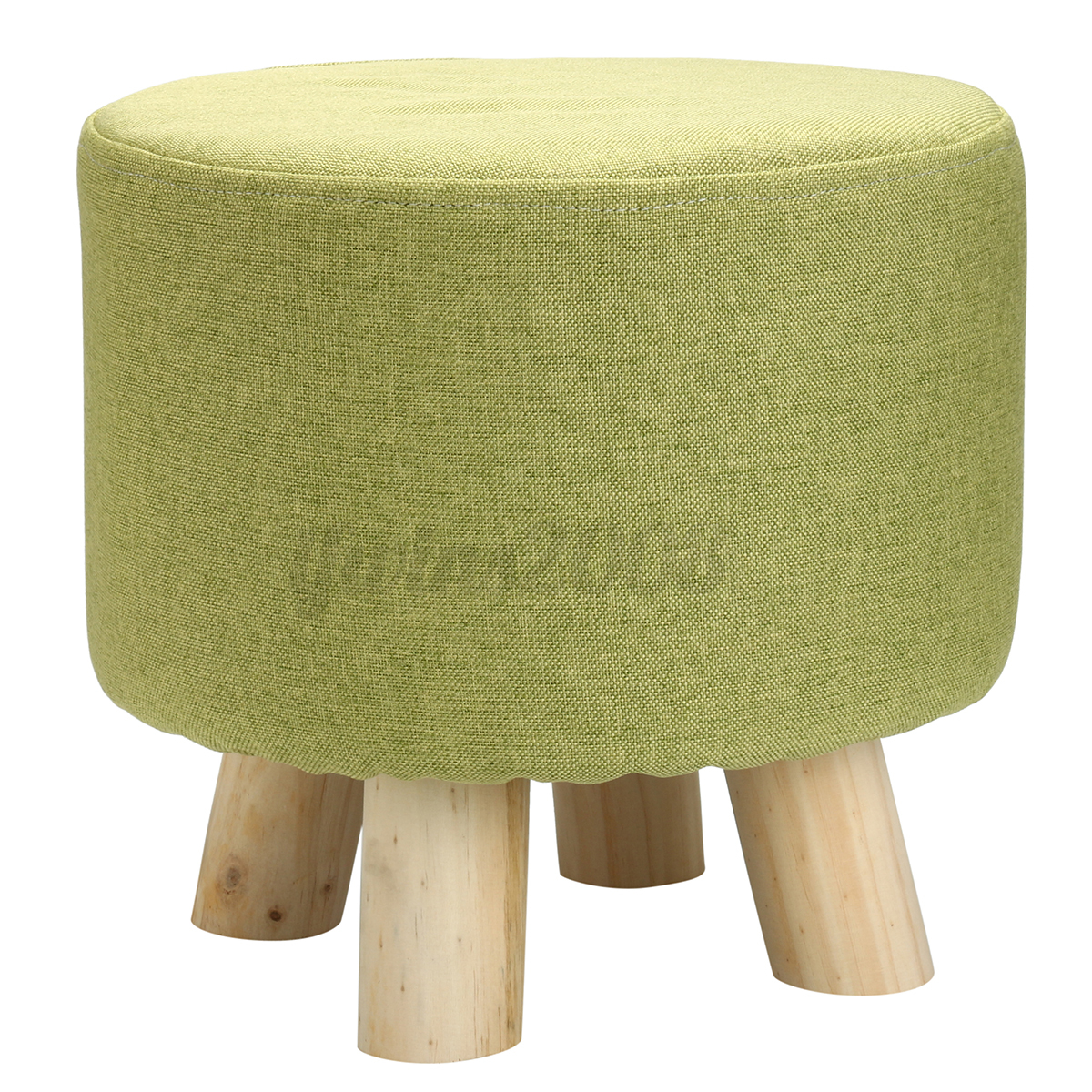 Footstool Small Round Wood Pouffe Chair Ottoman Foot