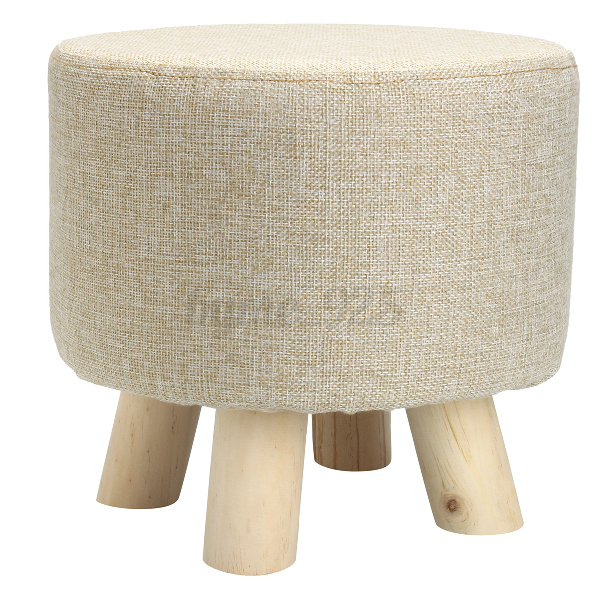 Footstool Small Round Wood Pouffe Chair Ottoman Foot Stool Foot Rest ...