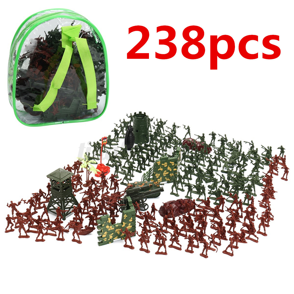 238PCS-Military-Plastic-Soldiers-Army-Men-Figures-Tanks-Accessories-Play-Set-Toy thumbnail 1