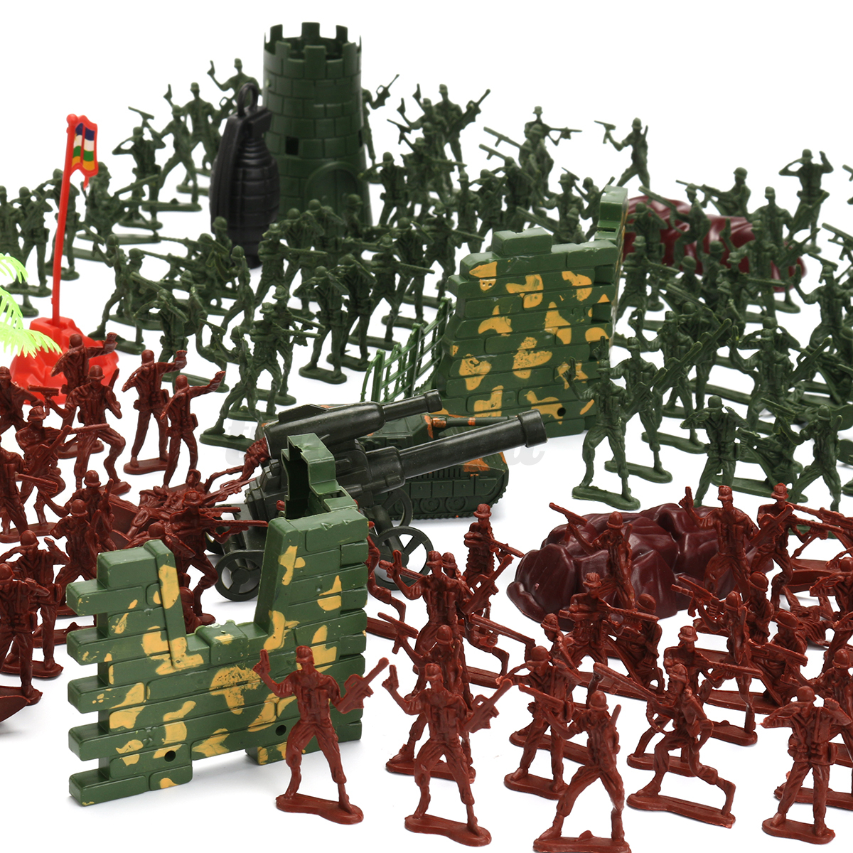 238PCS-Military-Plastic-Soldiers-Army-Men-Figures-Tanks-Accessories-Play-Set-Toy thumbnail 2