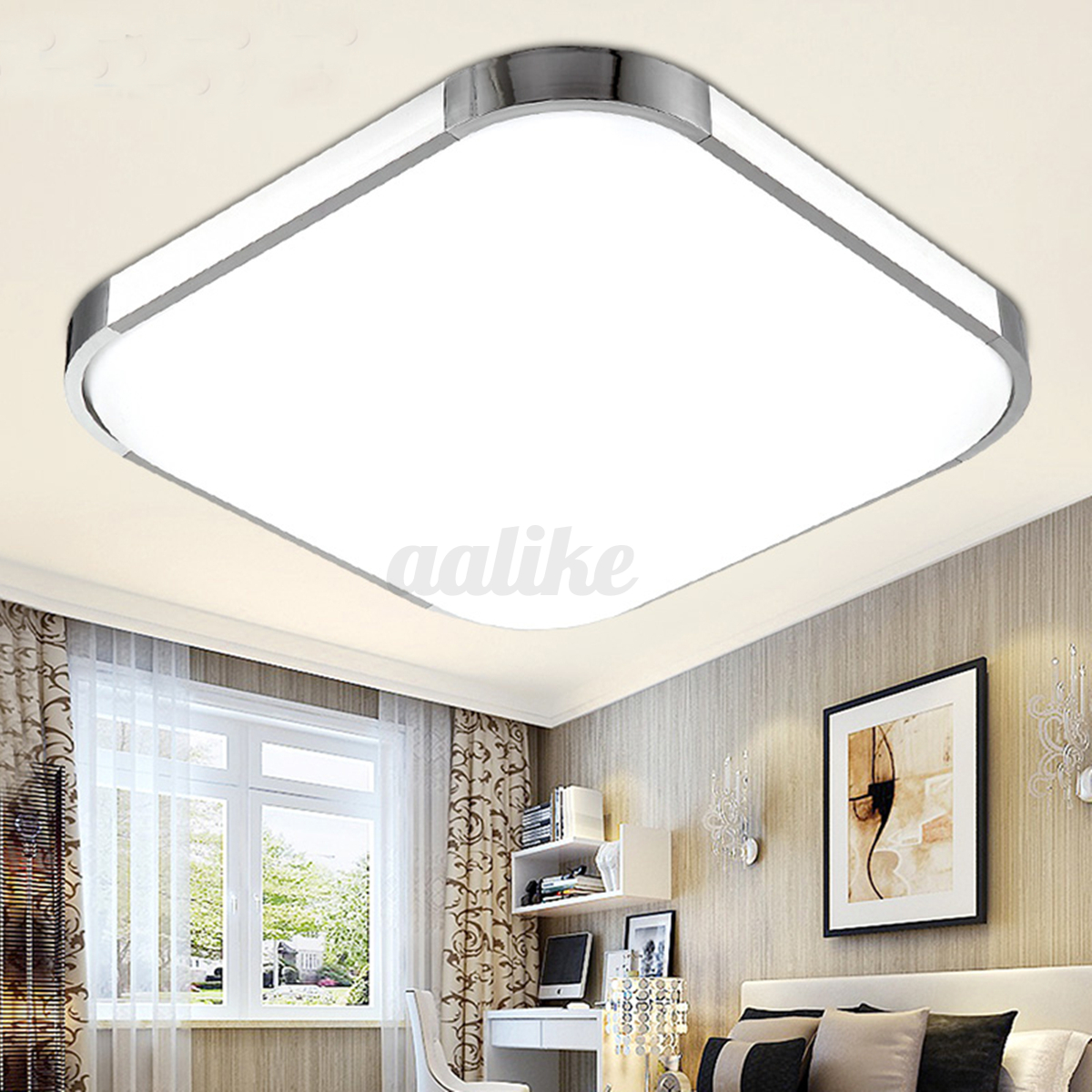 Modern led square ceiling down light bedroom living room for Led eclairage interieur