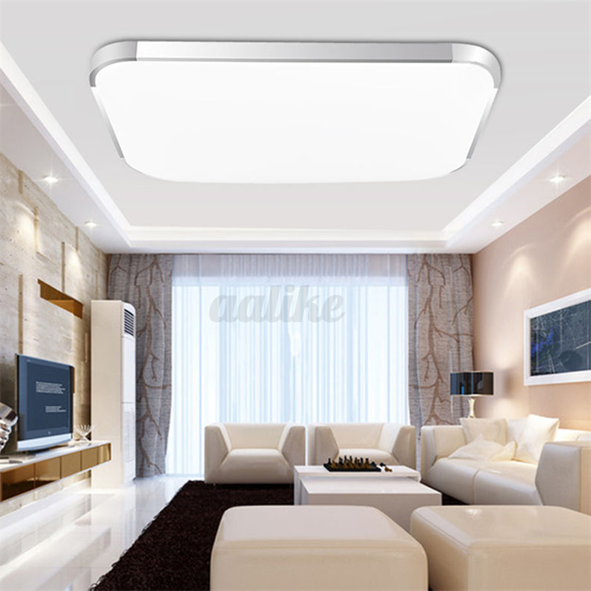 Modern led square ceiling down light bedroom living room for Ebay living room lights