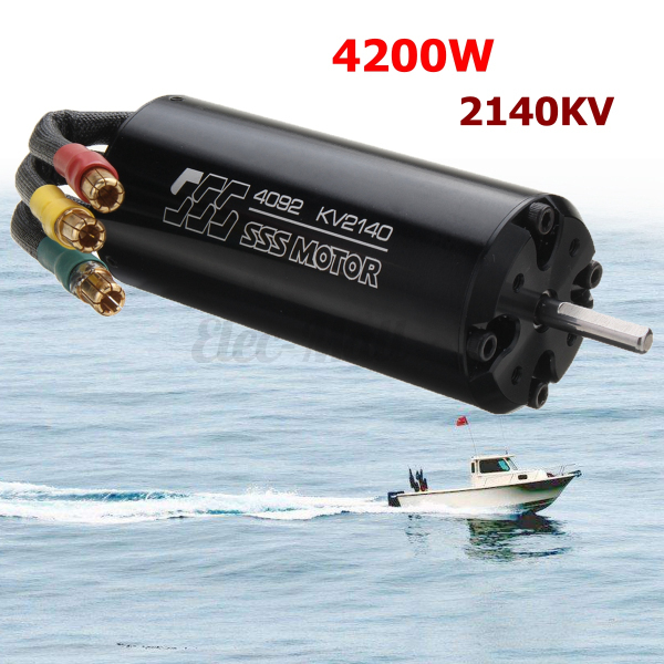 SSS 4092 2140KV Brushless Motor 4 Poles W O Water Cooling For RC Marine Boat