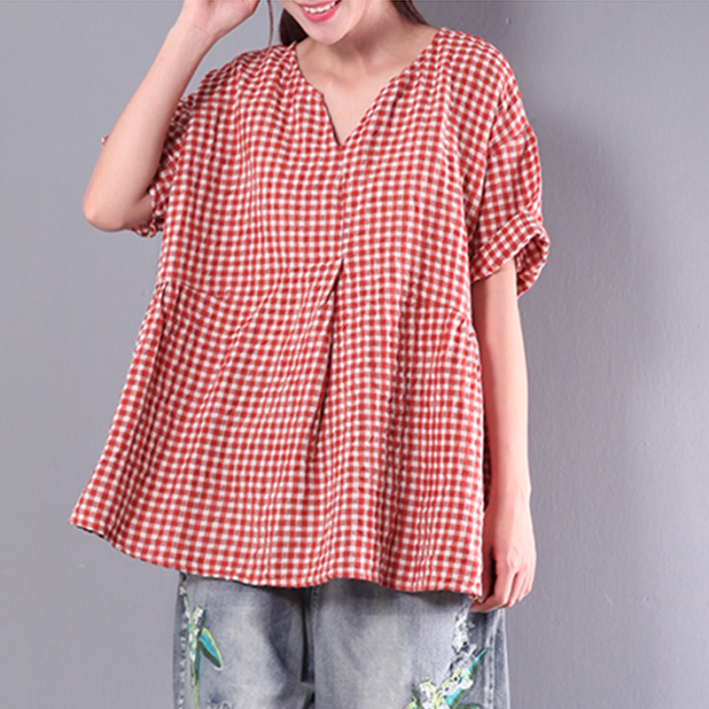ZANZEA-10-24-Women-Summer-Plus-Size-Boho-Peasant-Blouse-T-Shirt-Tee-Tunic-Top