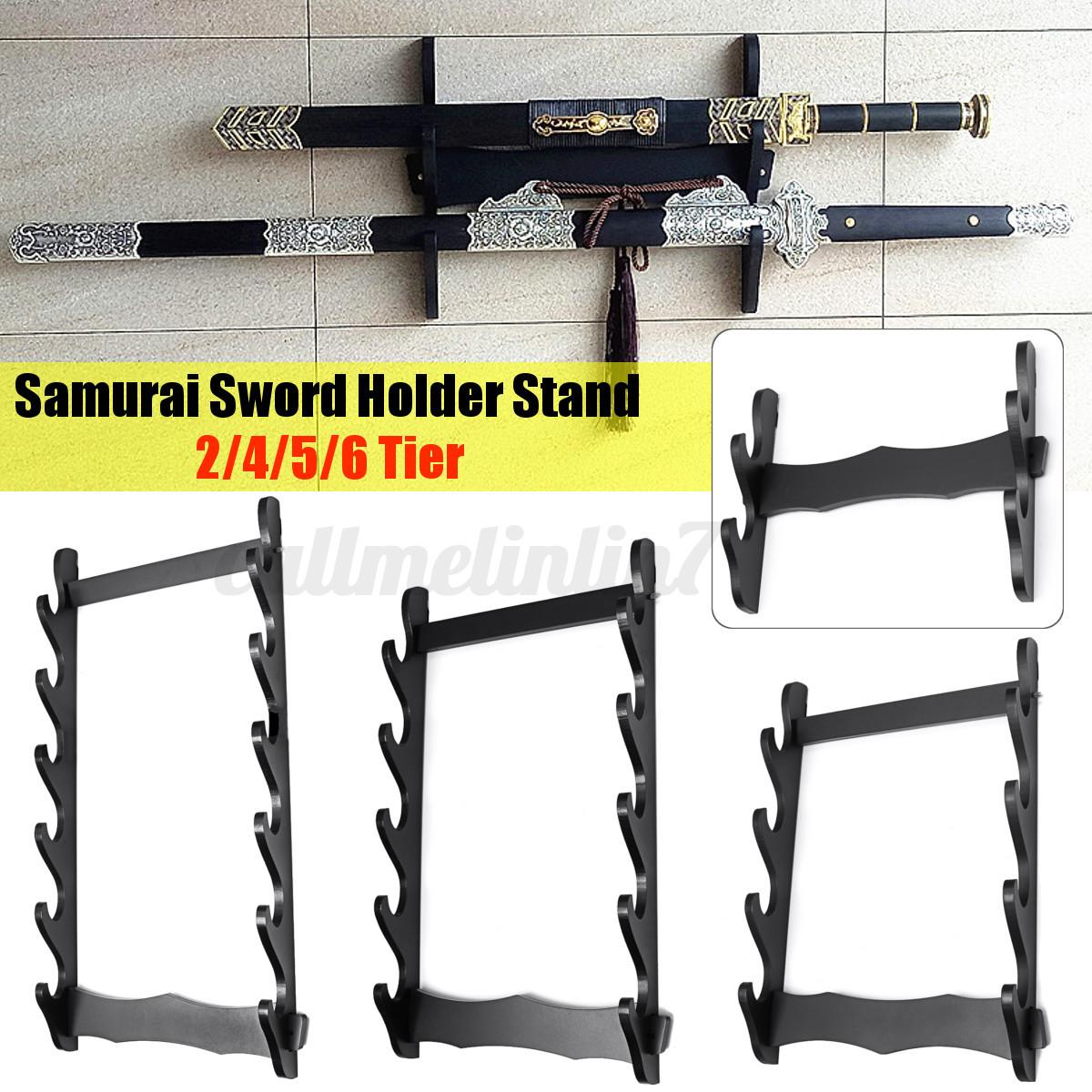 1//2////3 Layer Tier Katana Samurai Sword Stand  Holder Wall Mount Hanger  HOT