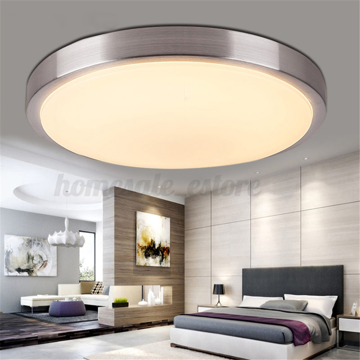 Light Filled Contemporary Living Rooms: 5/15/36w Modern LED Round Ceiling Light Bedroom Living