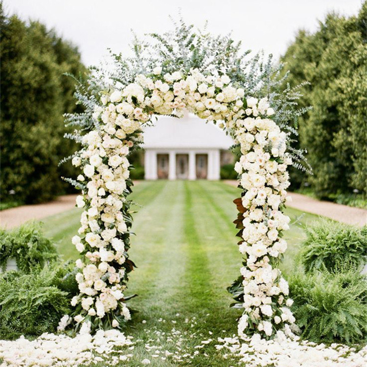 Iron Arch Way Assemble Door Wedding Party Bridal Prom Garden Floral Decor