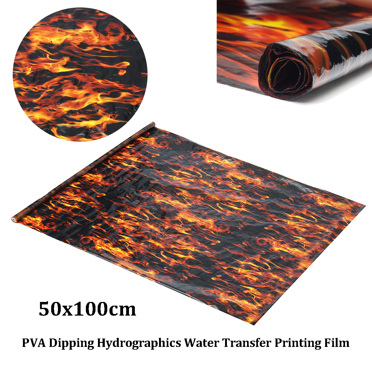 pva hydrographic water transfer hydro dipping dip flames. Black Bedroom Furniture Sets. Home Design Ideas