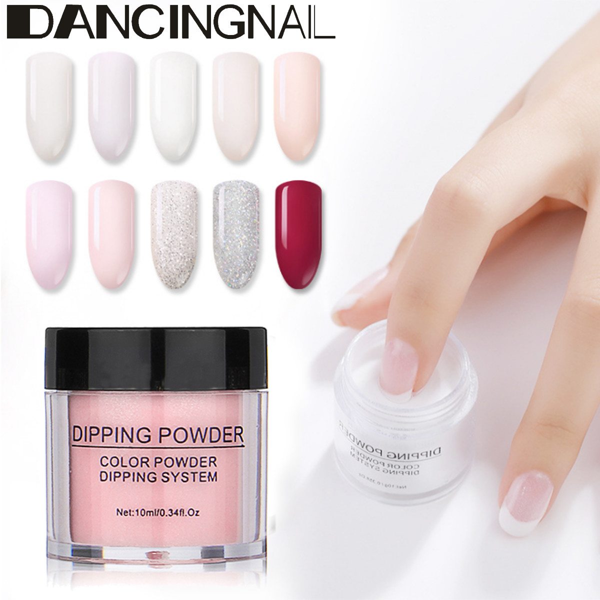 Details about DANCINGNAIL Nail Art Dipping Powder without Lamp Cure Dip  Powder Natural Dry SPZ