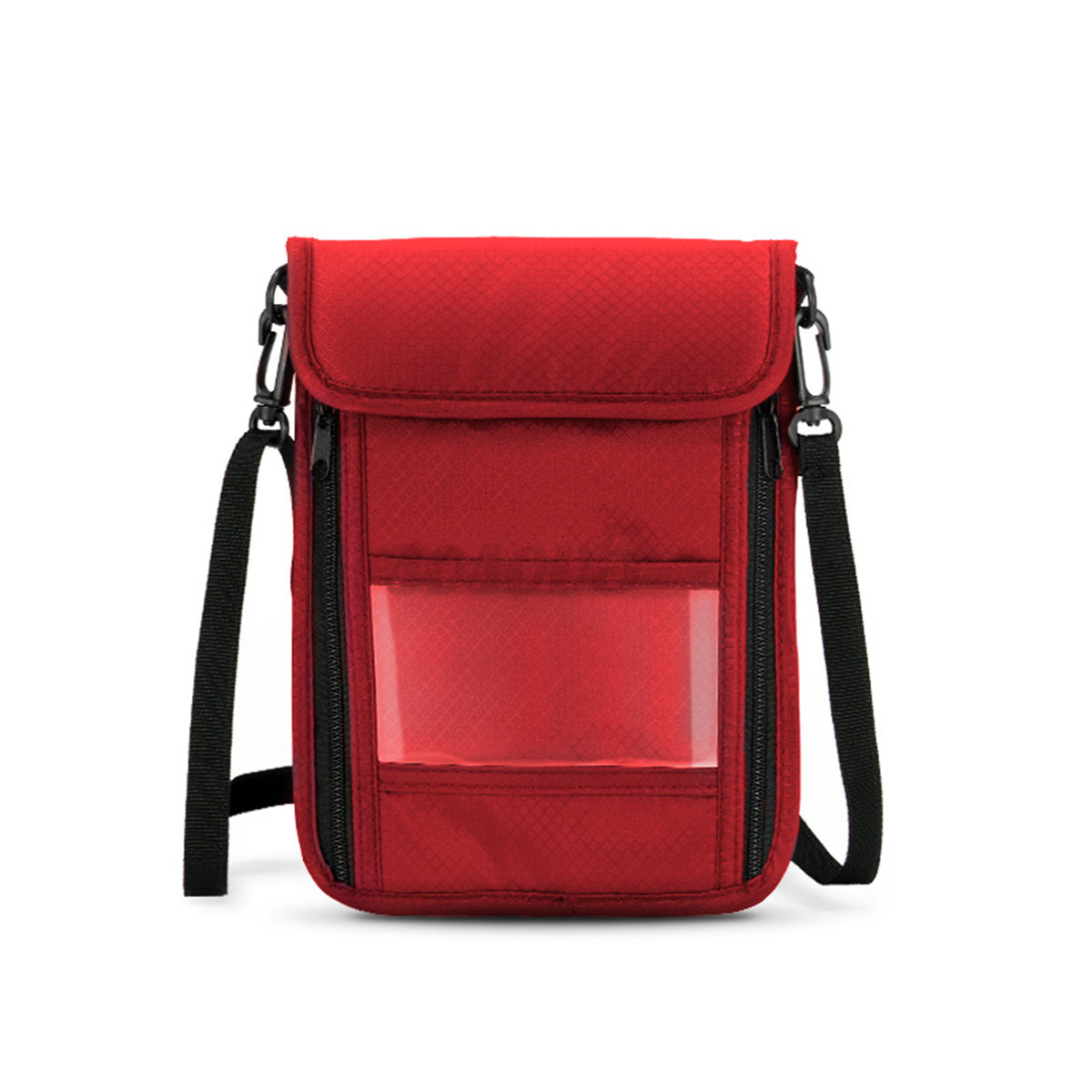 canvas travel passport document organizer credit card wallet holder pouch bag ebay. Black Bedroom Furniture Sets. Home Design Ideas