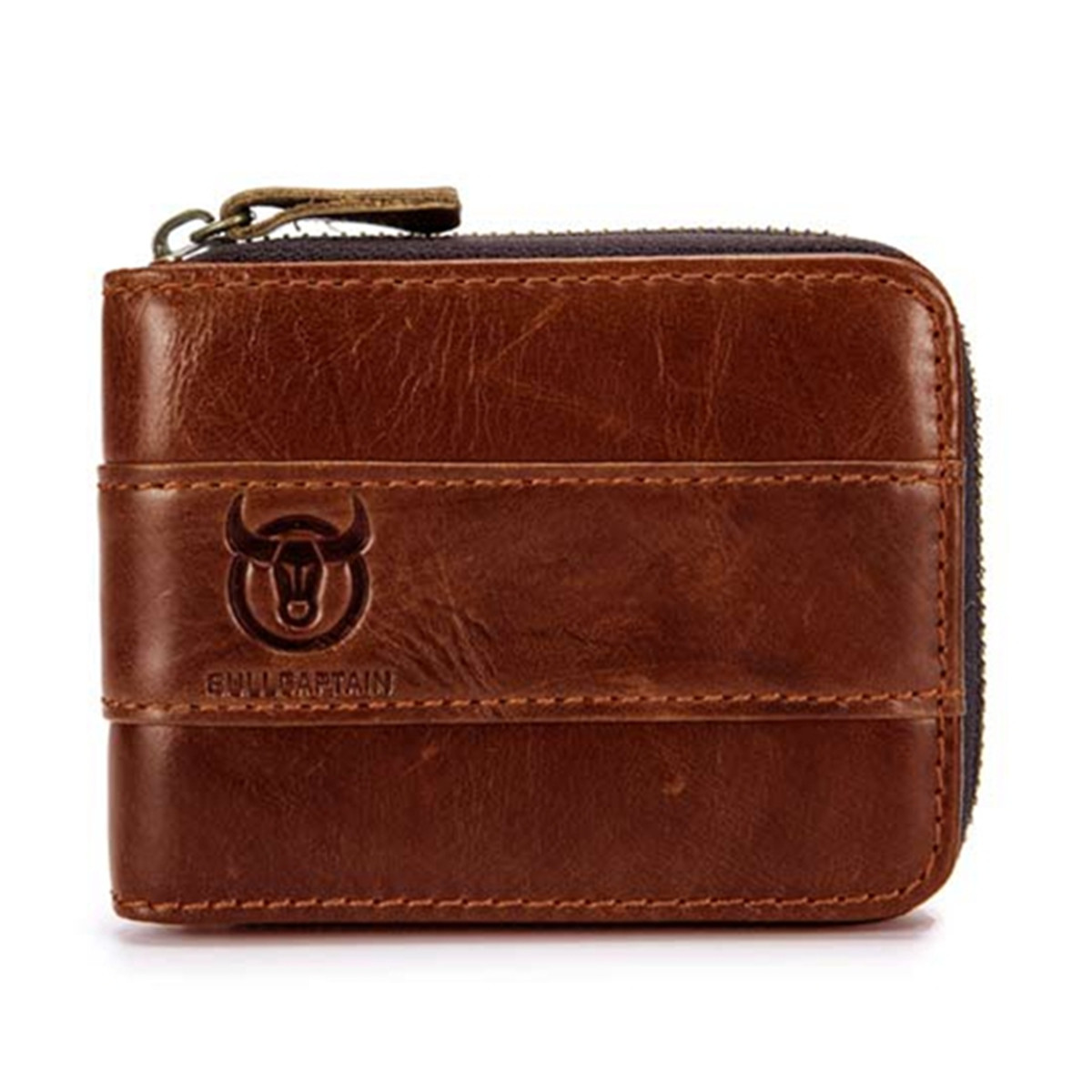 RFID-Men-Genuine-Leather-Card-Slots-Coin-Wallet-