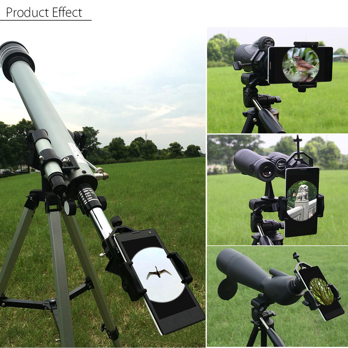 Mobile Phone Camera Adapter Spotting Telescope Scope Microscope Mount Holder 4