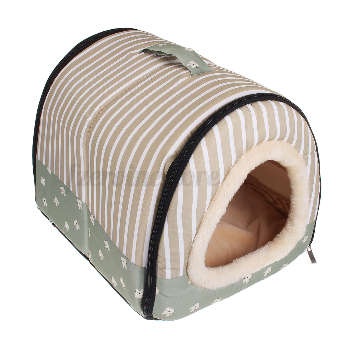 Pet-House-Dog-Bed-With-Print-Mat-Foldable-Cat-Dog-Slepping-Bed-Pad-Nest-For-S-M thumbnail 18