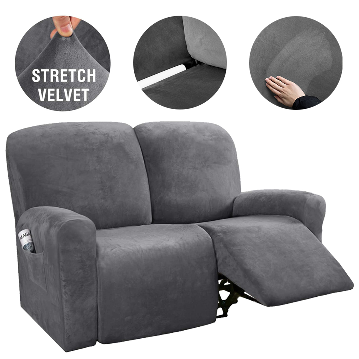 New Stretch Recliner Sofa Slipcover Furniture Chair Couch Cover Velvet Protector