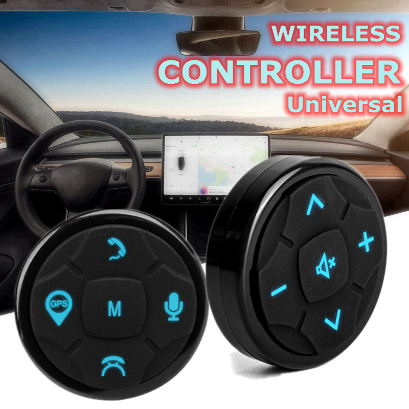 Universal Car Steering Wheel Stalk Button Bluetooth Music GPS Remote Control