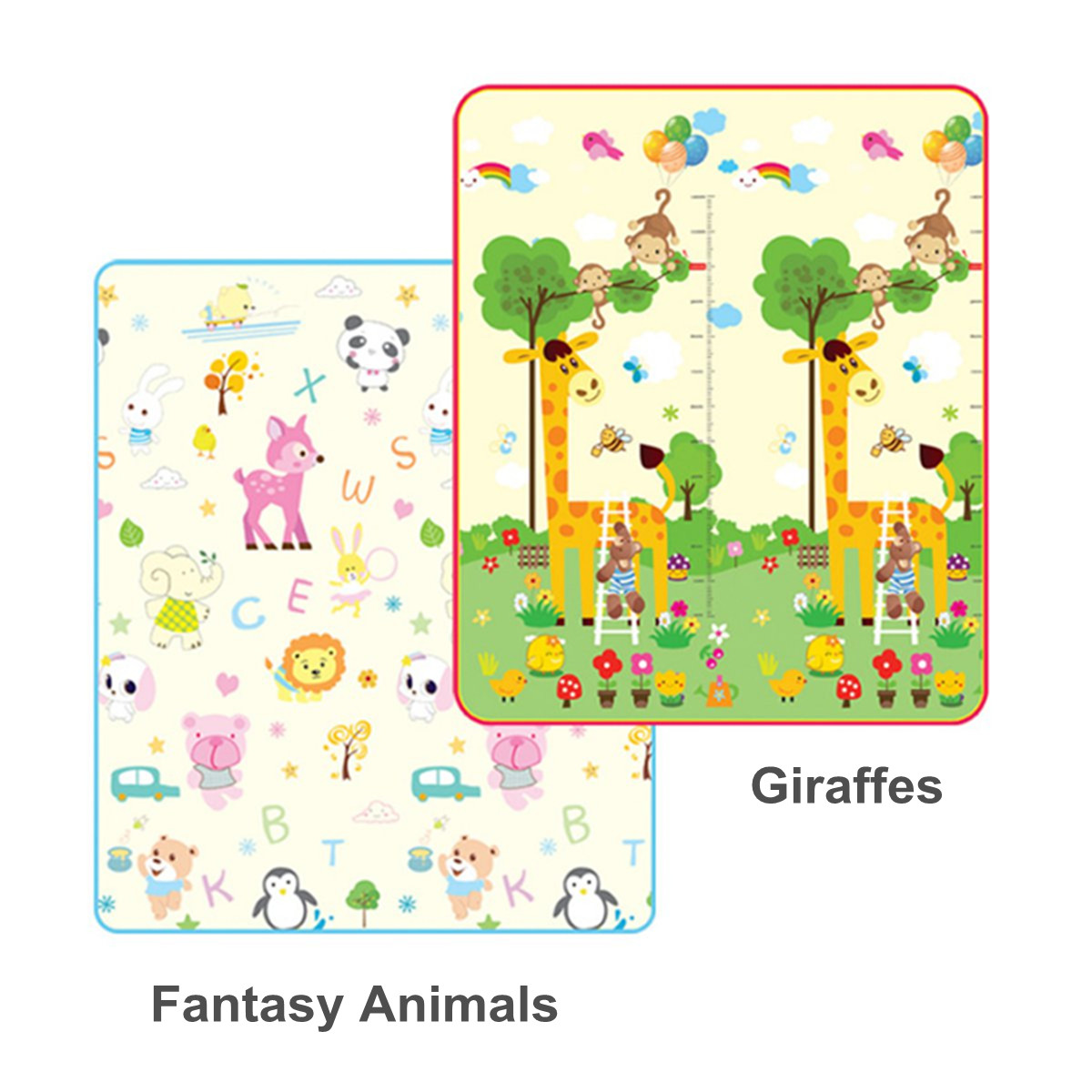 Two Sided Foldable Baby Kids Play Mat Floor Alphabet