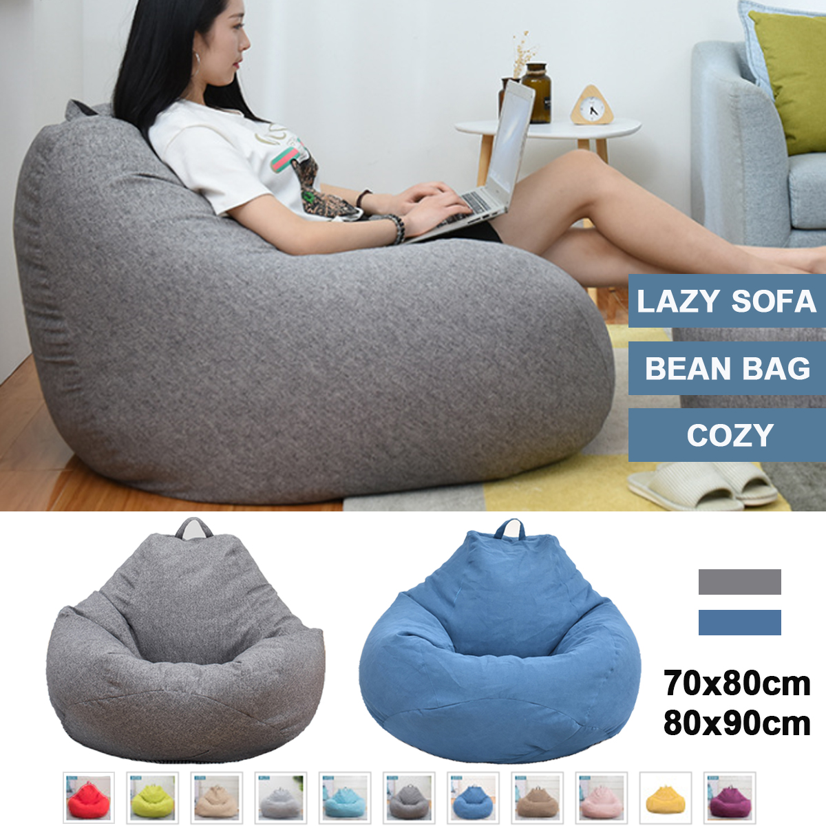Fine Details About Large Bean Bag Chair Sofa Couch Cover Tall Gamer Indoor Lazy Lounger Adults Short Links Chair Design For Home Short Linksinfo