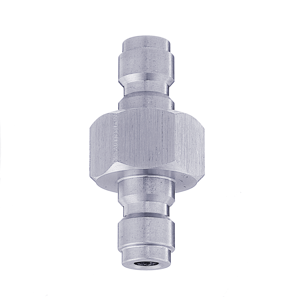! Stainless Steel Double Male to Male Connect Adaptor For Foster Paintball