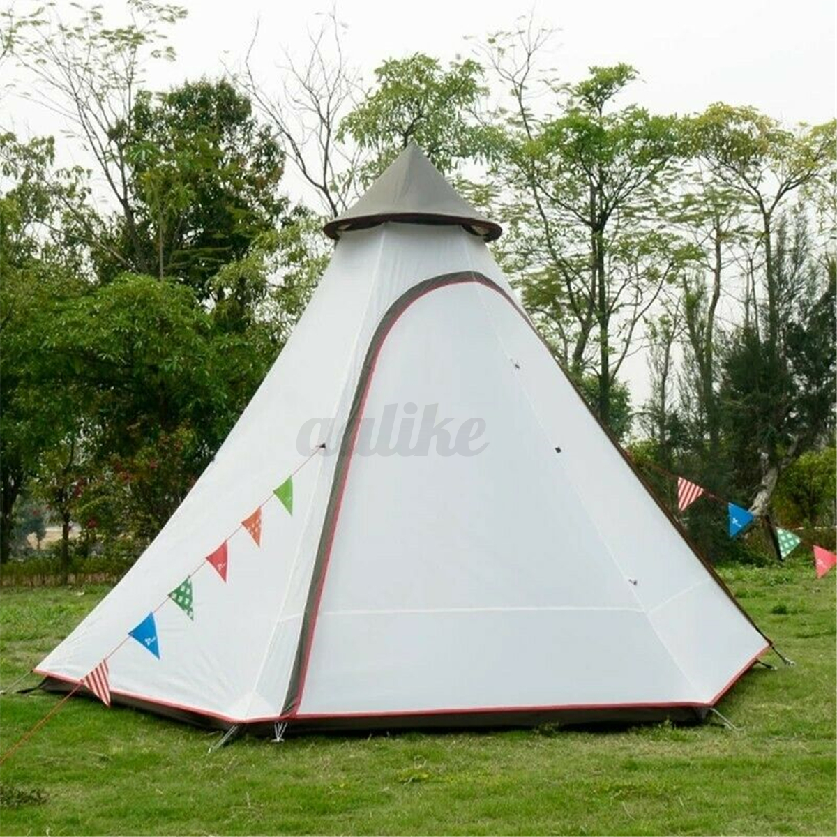 380-330-240CM-Large-Waterproof-Double-Layer-Family-Tent-Teepee-Camping-Outdoor thumbnail 5
