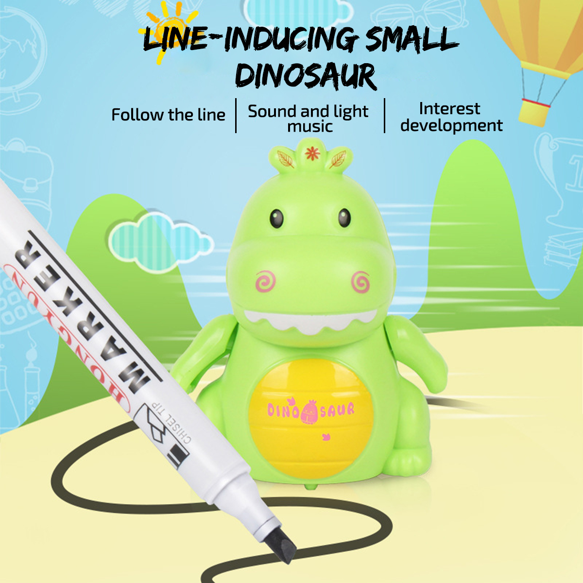 Educational Creative Pen Inductive Pig Automatic Charging ...