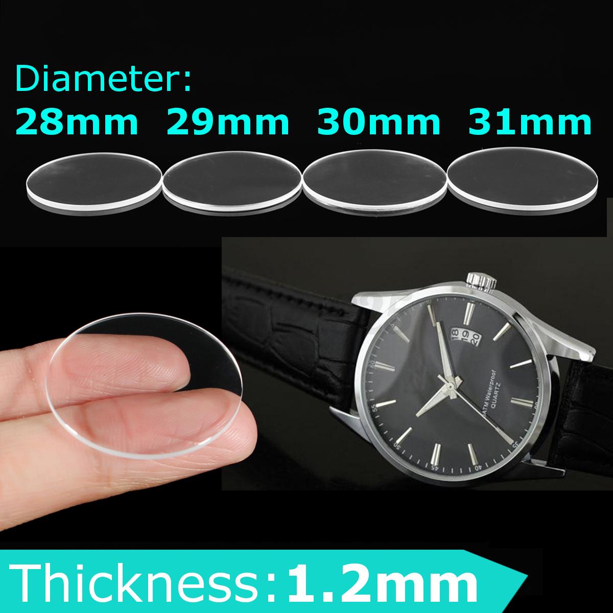 Uhrenglas Mineralglas Uhrenglas Uhrglas Für Sapphire Armbanduhr 28/29/30/31mm