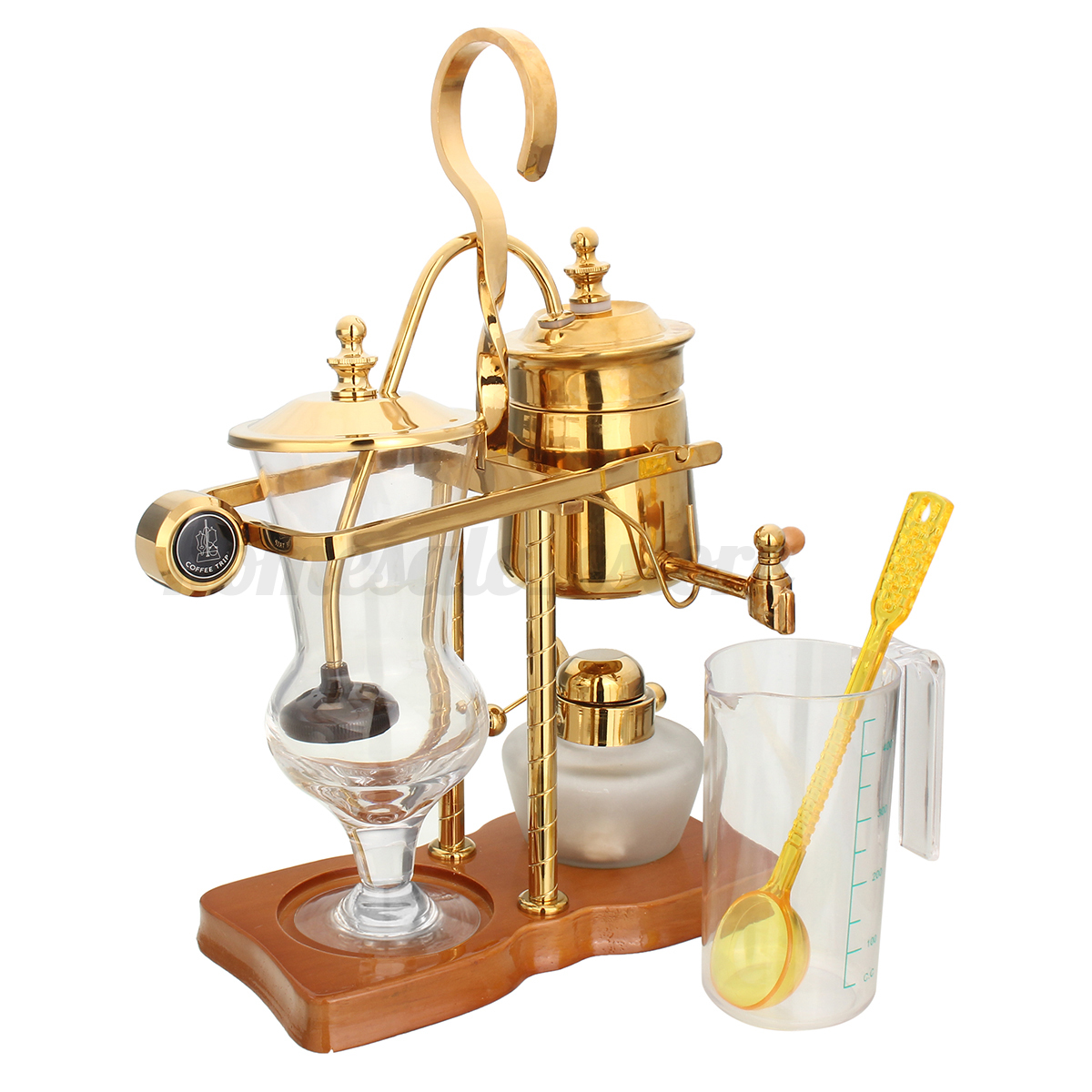 Silver gold belgium luxury royal balance syphon coffee for Best luxury coffee maker