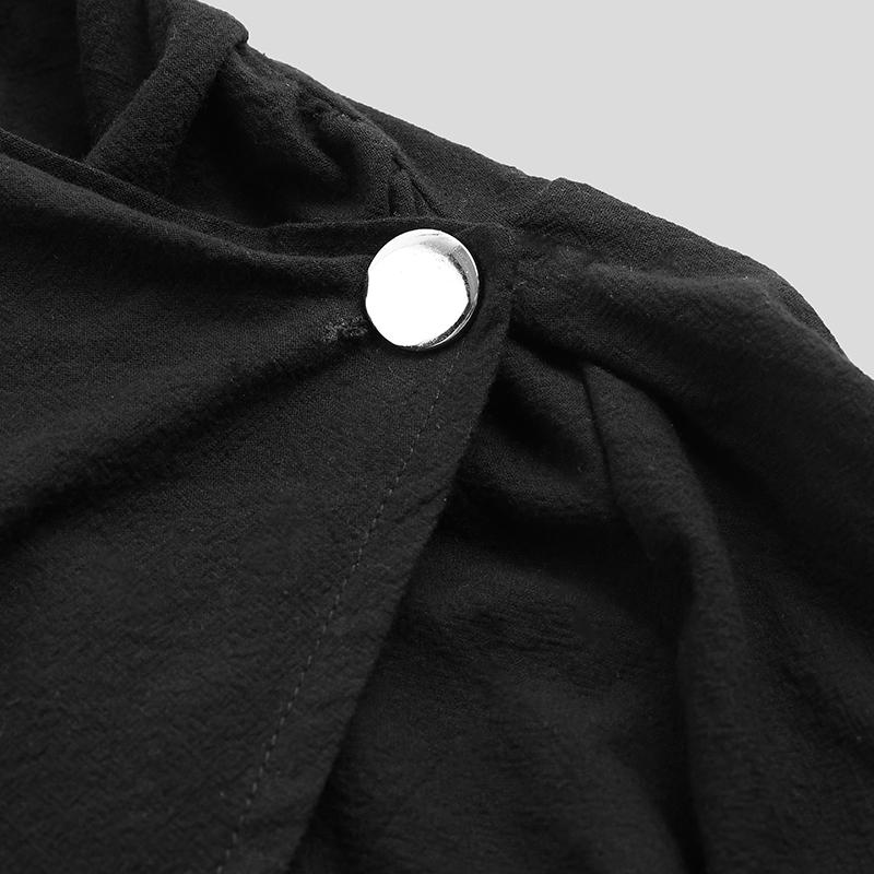 Gothic-Fashion-Men-039-s-Loose-Jacket-Long-Punk-Long-Cape-Tops-Loose-Fit-Jacket-Tops thumbnail 9