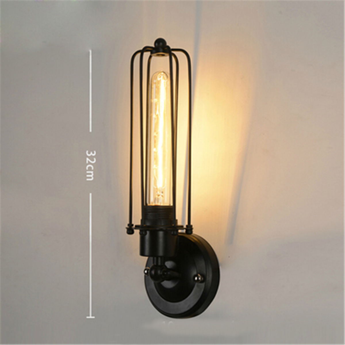 Vintage Industrial Retro Iron 1/2 Heads Wall Lamp Sconce Light ...