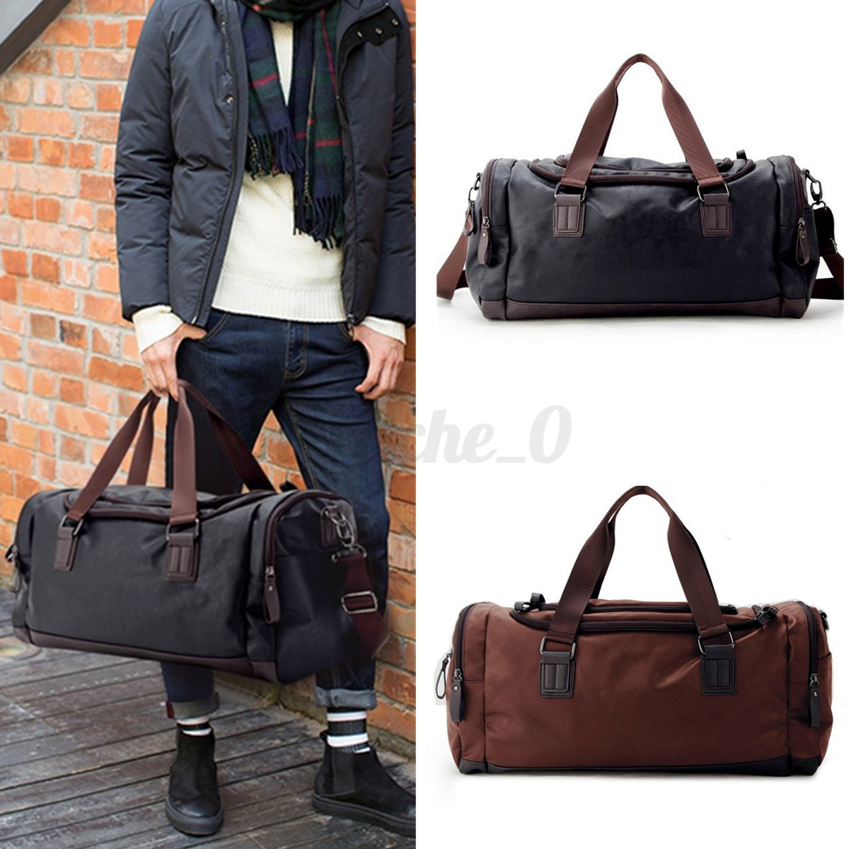 Details about Large Men s Leather Sports Duffle Bag Tote Handbag Travel Gym  Fitness Bags New 097147e2ec