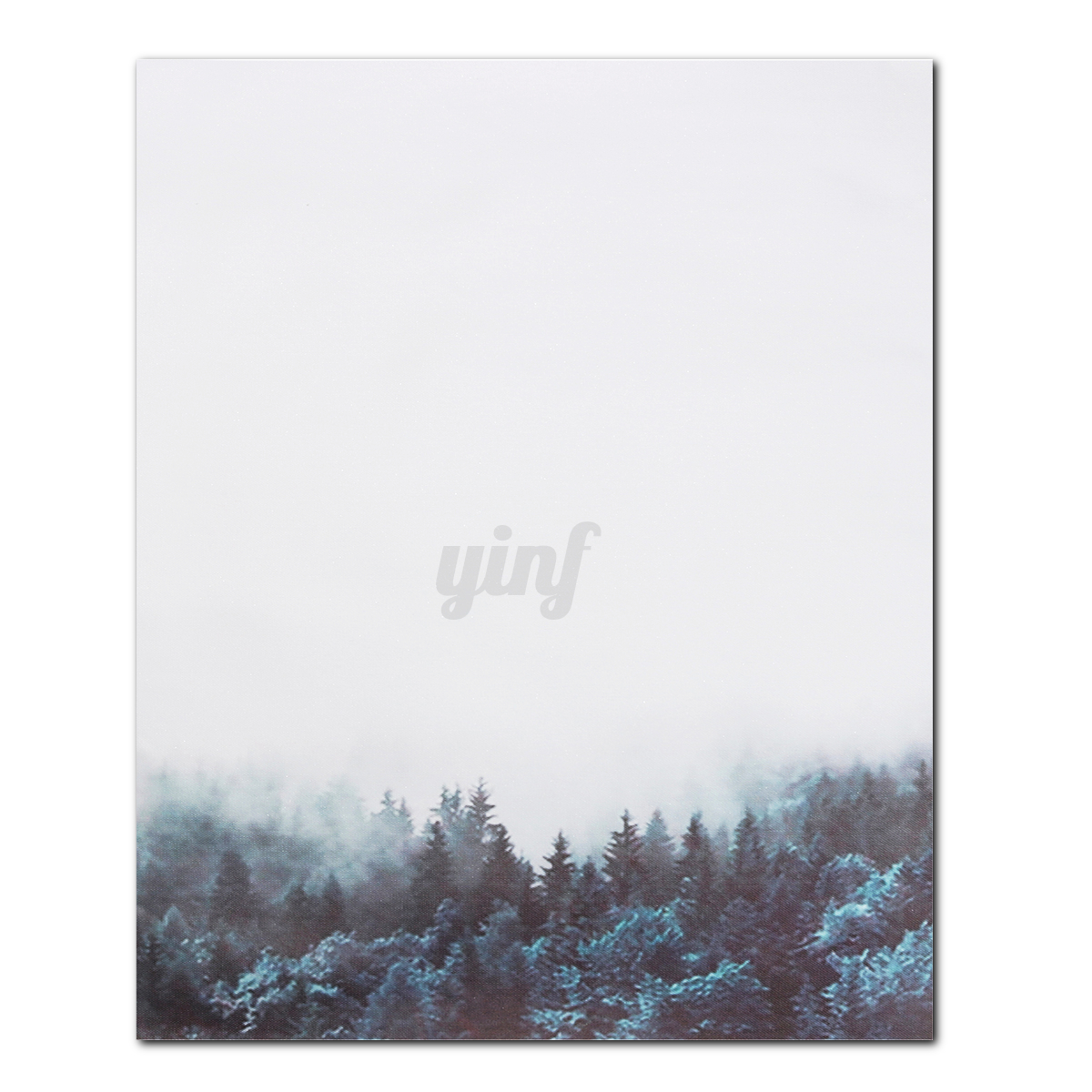 Nordic-Minimalist-Hazy-Forest-Canvas-Art-Poster-Print-Wall-Picture-Home-Decor