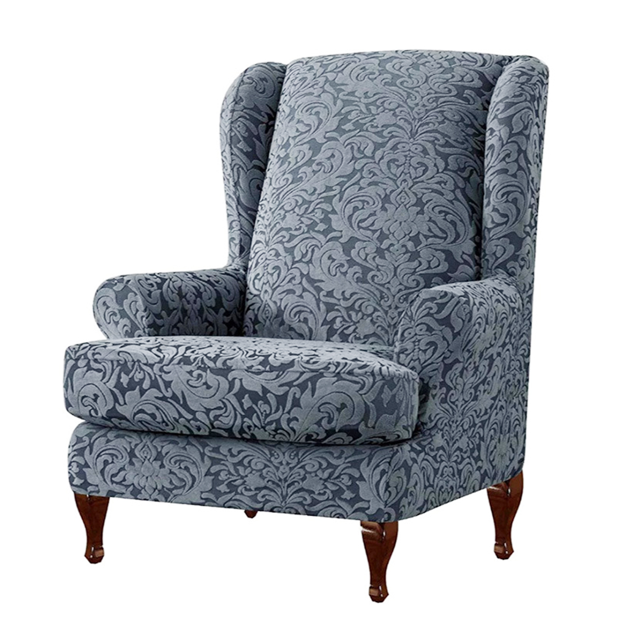 Stretch Knitting Wing Chairs Covers Slipcover Wingback ...