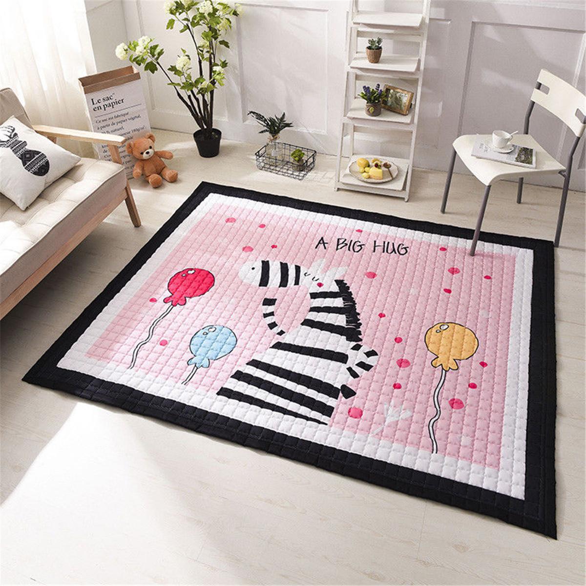Washable Play Rugs: Animal Baby Kids Non Slip Play Mat Crawling Rug Carpet
