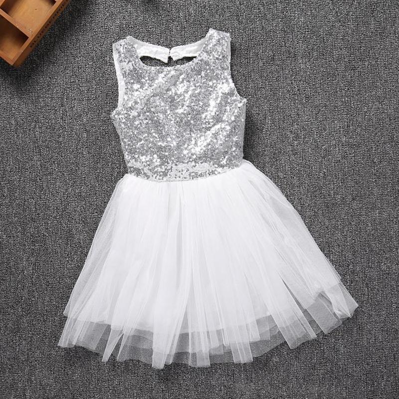 Baby Girls Bow Sequin Party Tutu Dress Wedding Birthday Princess