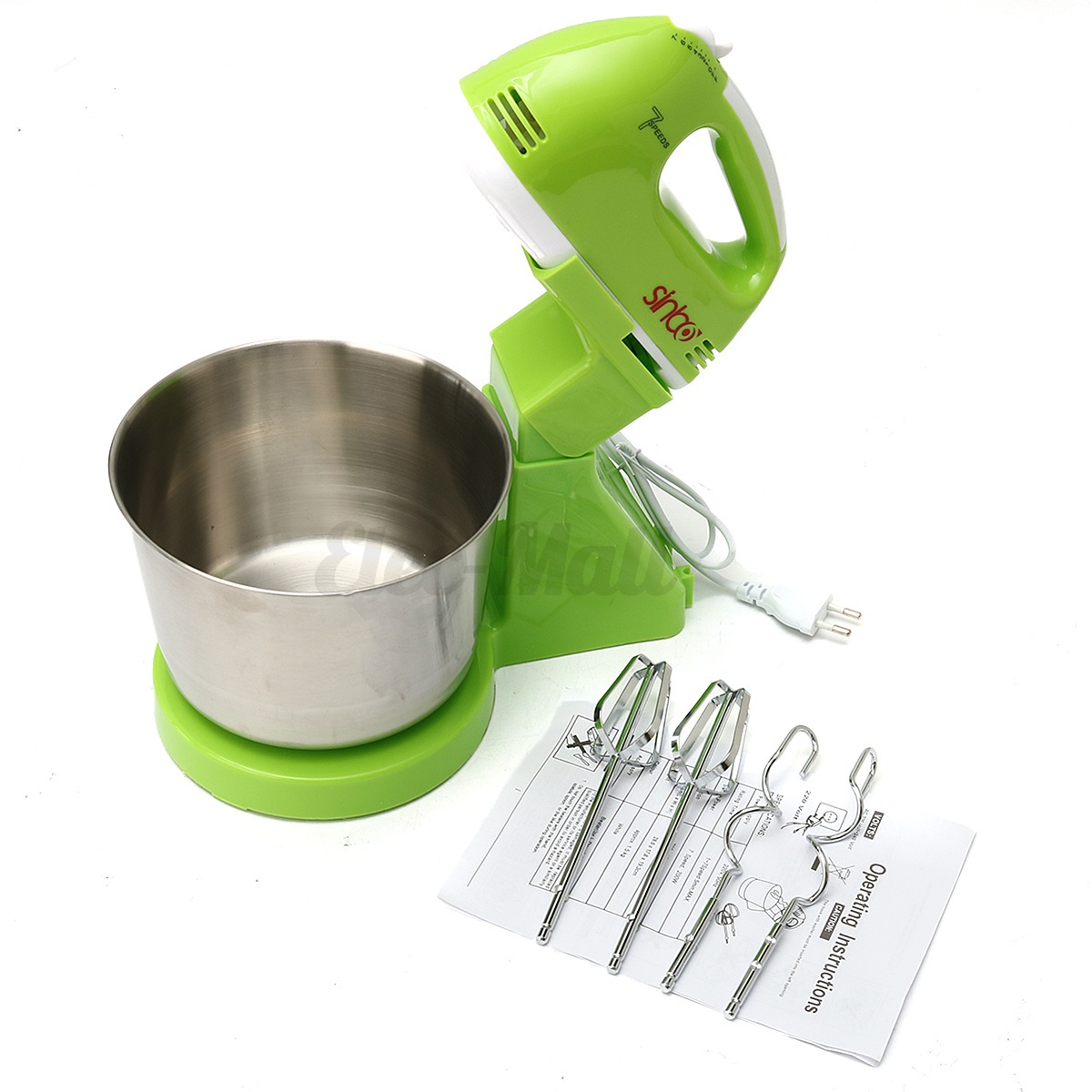 Electric Hand Blender ~ Speed electric beater stainless steel dough stand mixer