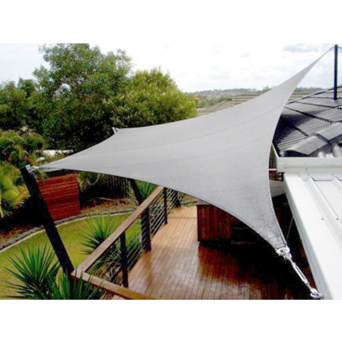 Sun Shade Sail Outdoor Garden Canopy Patio Cover UV Wind Waterproof Block