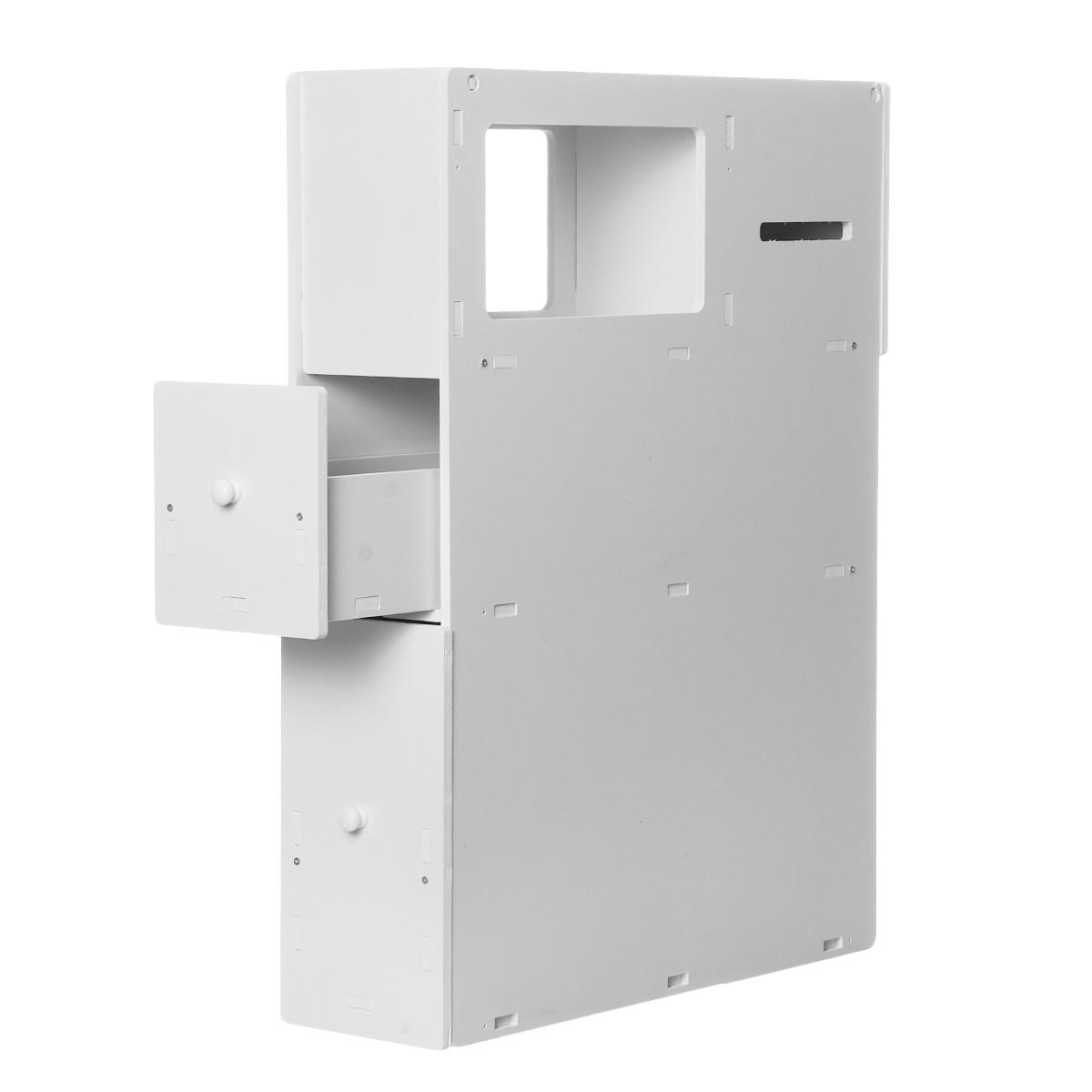 Bathroom Storage Toilet Cabinet Caddy Holder Drawer Wheels ...